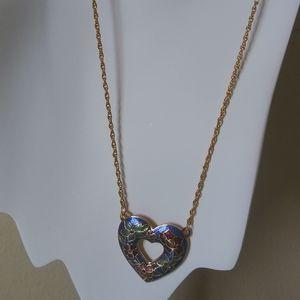 CLOISONNE HEART CHAIN
